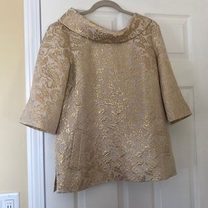 Lilly Pulitzer Gold/Cream Blouse